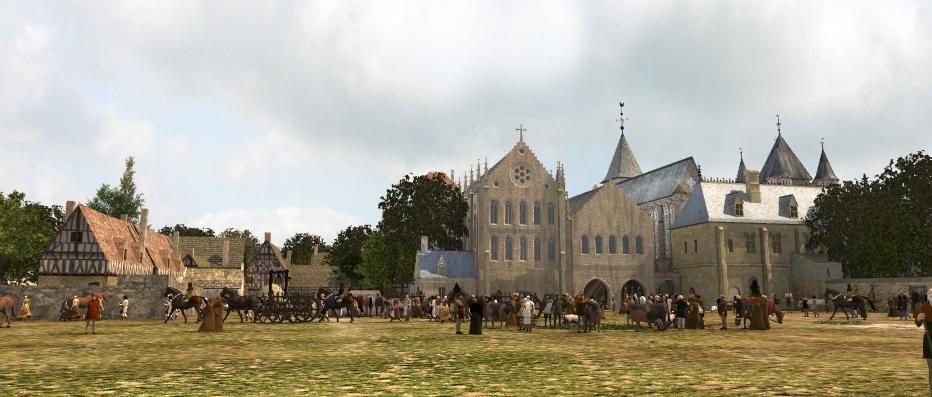L'enclos et le donjon du Temple en 360°