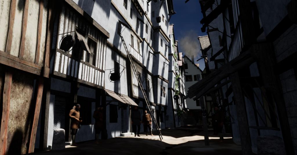 Une scène de rue en 3D Temps Réel